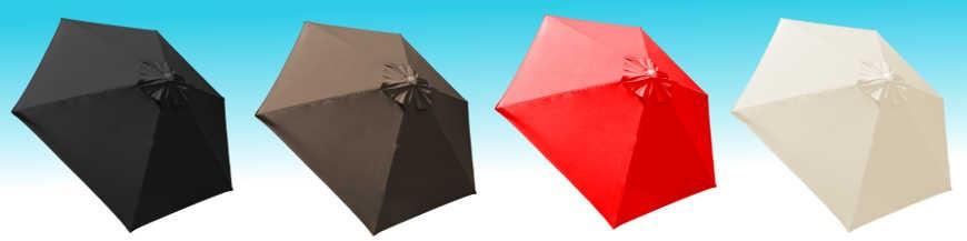 Parasol Biarritz avec toiles de haute qualité classée UPF50+ pour une bonne protection aux rayons du soleil.