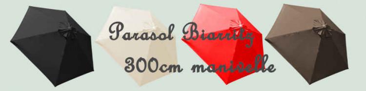 Parasol Biarritz à manoeuvre par manivelle