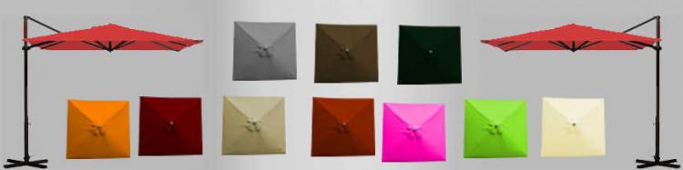 Toiles de remplacement : parasols déportés carrés 3x3