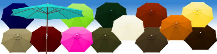 Le site de La Boutique du Parasol  vous propose son Parasol modèle Lacanau Bois a manoeuvre par manivelle Diamètre 350 cm
