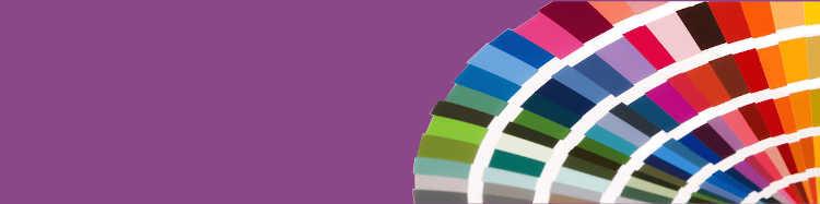 Nos parasols avec des toiles de couleur violette