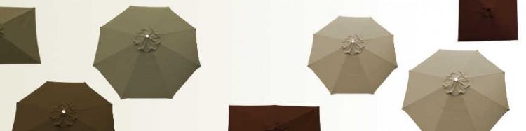 Parasols et Toiles, les Couleurs Terre : Taupe,Chamois,Marron,Chocolat