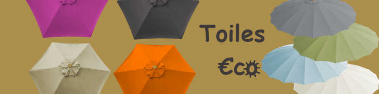 Toiles €c☼nomiques pour parasols mât central et déporté