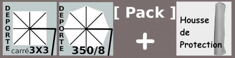 Pack Toile pour parasol déporté Carré, Octogonal ou rectangulaire + housse