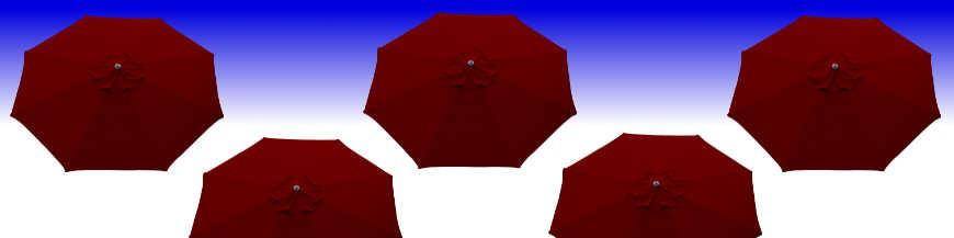 Parasols et toiles Rouge Bordeaux