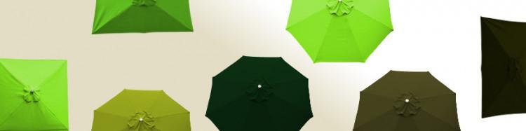 Parasols  de notre collection  avec Toiles de couleur Vert
