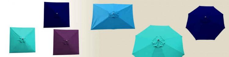 Parasols  et toiles pour Parasols de notre collection de couleur Bleu