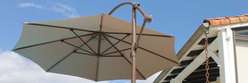 mon parasol avec sa nouvelle toile vue dessous