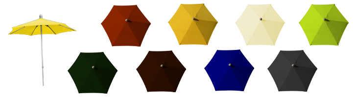 parasol arcachon diametre 200 cm et ses couleurs de toiles