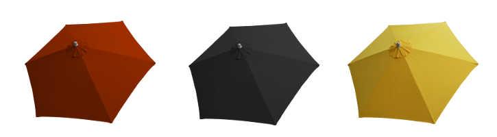 parasol arcachon 350 cm a manoeuvre par manivelle et ses couleurs de toiles
