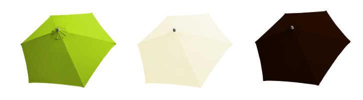 parasol arcachon 350 cm et ses couleurs de toiles