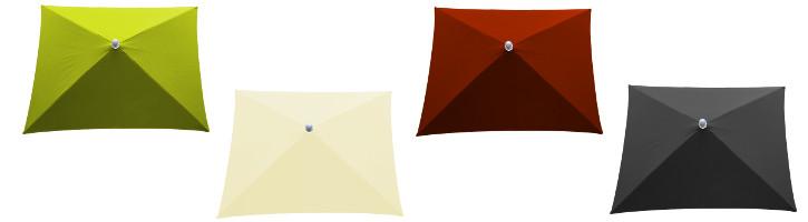 parasol arcachon rectangle et ses couleurs de toiles