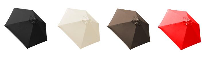 parasol Biarritz et ses 4 couleurs de toiles
