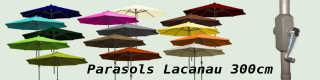 Parasols Lacanau octogonux 300 cm ouverture par manivelle : accès direct à la page