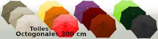 Toiles octogonales 300 cm pour parasols