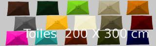 les couleurs des toiles 2x3 pour parasols Lacanau