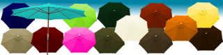 Parasol Lacanau 350 cm structure bois a manivelle et ses 15 couleurs de toiles