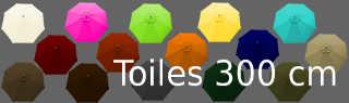 les 15 couleurs de toiles pour parasol diametre 300 cm