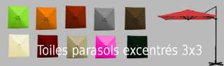 Toiles pour parasols déportés 3x3